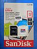 Карта памяти SanDisk Ultra microSDHC UHS-I 32GB сlass10 + SD адаптер, фото 5