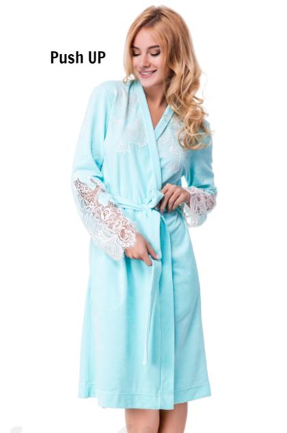 Халат теплый Suavite Ванесса-Х голубой, фото 1