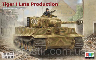 Sd.Kfz. 181 Pz.kpfw.VI Ausf. E Tiger I Late Production 1/35 Rye Field Model 5015