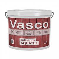 Пропитка для дерева защитная Vasco Antiseptik Aquatex, 2,7 л