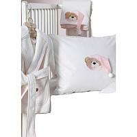 Детский набор в ванную для младенцев Karaca Home - Bear розовый