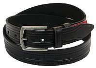 Мужской кожаный ремень под брюки Skipper 1006-35 черный ДхШ: 121х3,5 см.