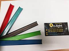 Алюминиевый профиль LLP-2 color накладной мебельный