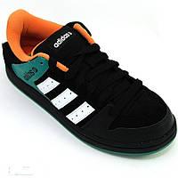 Кроссовки мужские adidas Sneaker CLATSOP G53431 (черные, повседневные, закрытые с перфорацией, бренд адидас), фото 1