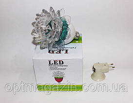 Диско Лампа светодиодная с адаптером лотос