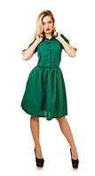 Платье из габардина длиной  до колена в расцветках 091