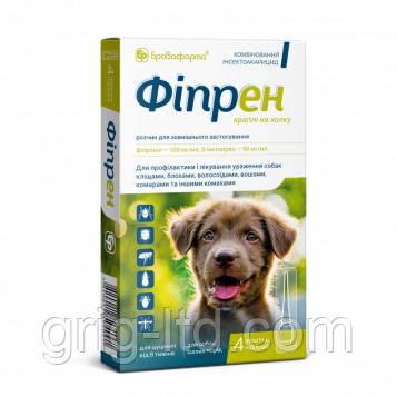 Капли Фипрен для мелких собак