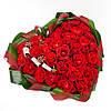 Корзина цветов в виде сердца «Валентинка - 29 роз»