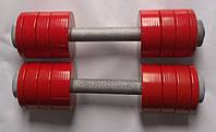 Гантели разборные 2*10 кг с полимерным покрытием (общий вес 20кг) металл, фото 1