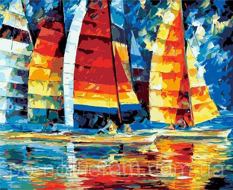Картина за номерами Ідейка КН1015 Вітрильники 40 х 50 см
