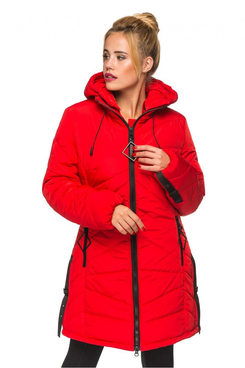 Удлиненная куртка зимняя для женщин Amina (44–52р) в расцветках