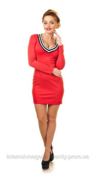 Платье  короткое облегающее в двух цветах 095