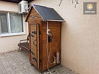 Электростатическая Коптильня 550 л -холодного и горячего копчения, +просушка. Ольха  внутри, крыша домиком