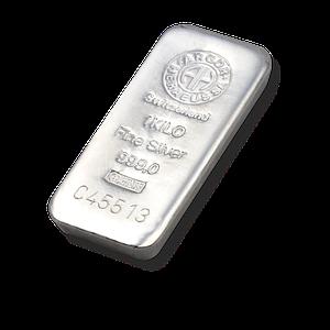 Слиток серебра 1000 грамм Летой Argor-Heraeus