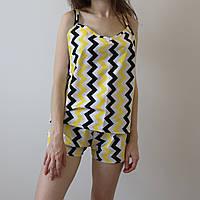 Пижама женская (майка и шорты) Полосы, хлопок, фото 1