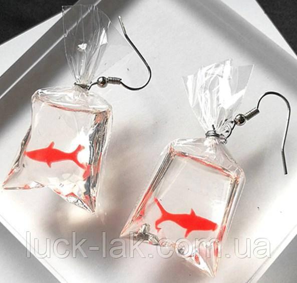Оригінальні сережки з рибками