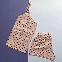 Пижама женская (майка и шорты) Пудра, хлопок, фото 1