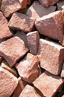 """Камень """"Малиновый кварцит"""" колотый ТМ """"Банька"""", фото 1"""