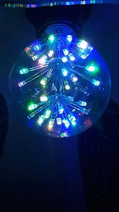 Праздничная разноцветная лампа.g80, фото 2