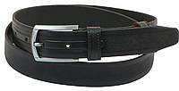 Мужской кожаный ремень под брюки Skipper 1144-33 черный ДхШ: 130х3,3 см.