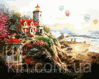 Картина за номерами Menglei MG1095 Маяк на заході 40 х 50 см 950 море