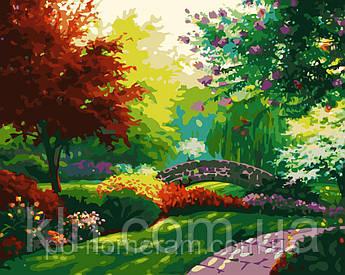 Картина за номерами MG1096 Квітучий сад 40 х 50 см 950 пейзаж