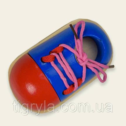 Деревянная игрушка Шнуровка Башмачек, фото 2
