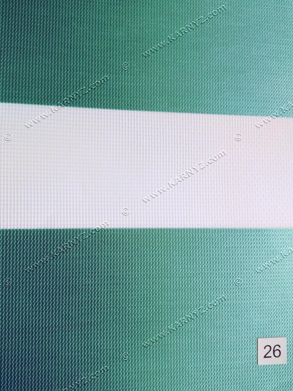 Рулонні штори День-Ніч Хеппі бірюзовий