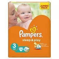 cb32686d6e42 Подгузники Pampers Sleep Play Midi 3 (4-9 Кг) JUMBO PACK 78 Шт. — в ...