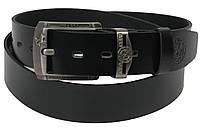 Ремень мужской кожаный под джинсы Rovicky чёрный 130х4 см.