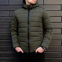 Мужская зимняя куртка теплая Хаки, фото 1