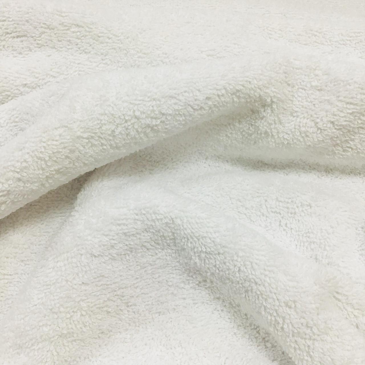 Махровая ткань двухсторонняя премиум, белого цвета (380 г/м.кв.), 100% хлопок