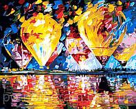 Картина по номерам MG1012 Воздушные шары над заливом 40 х 50 см 950 пейзаж
