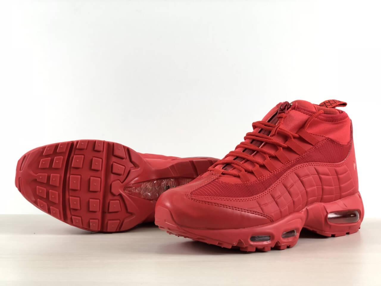 Кросівки на термо підкладці Nike Air Max 95 Sneakerboot Red Зима/Осінь