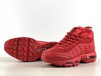 Кросівки на термо підкладці Nike Air Max 95 Sneakerboot Red Зима/Осінь, фото 1