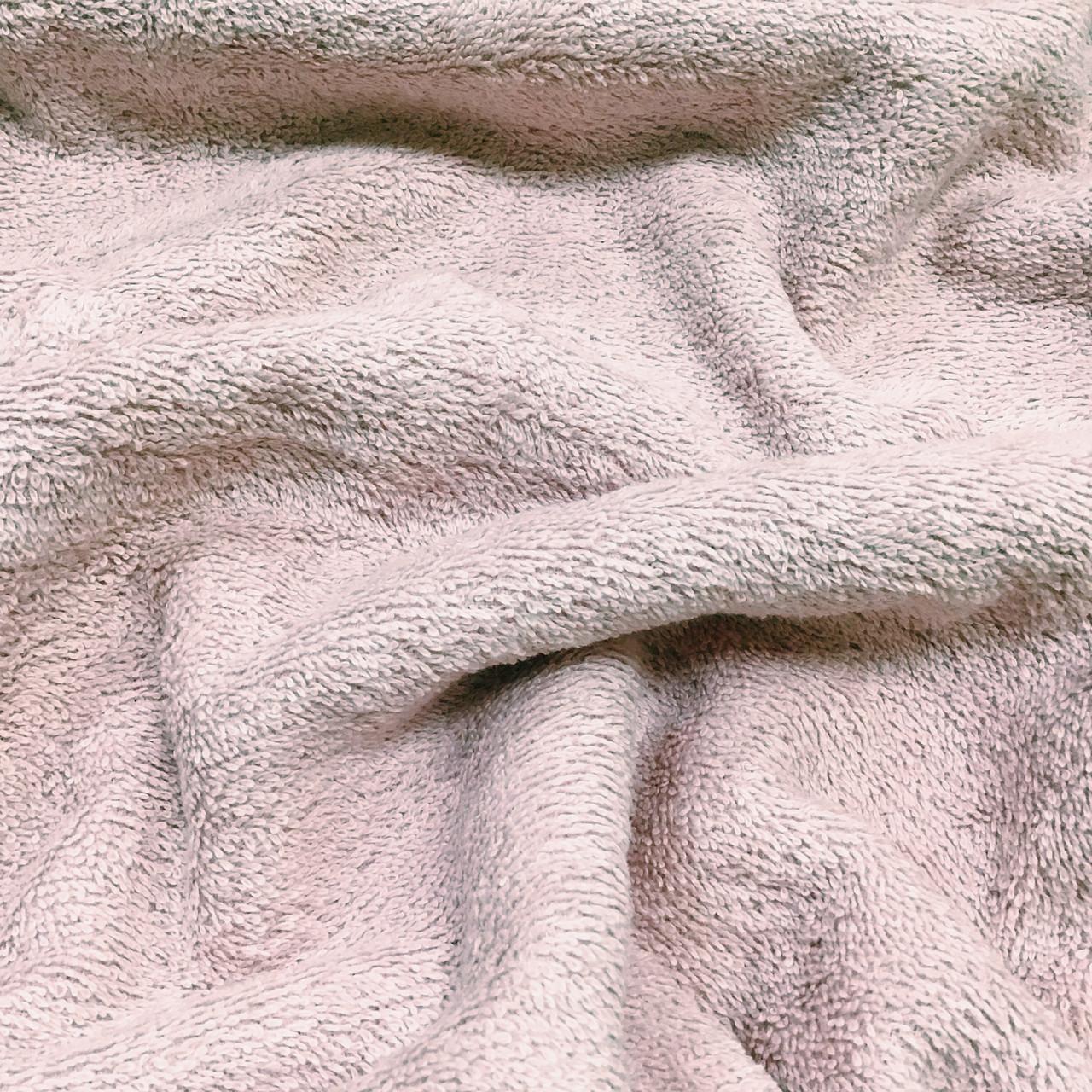 Махровая ткань двухсторонняя премиум, пудрового цвета, 100% хлопок