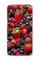 Чехол для HTC Desire 816 (Лесные ягоды)