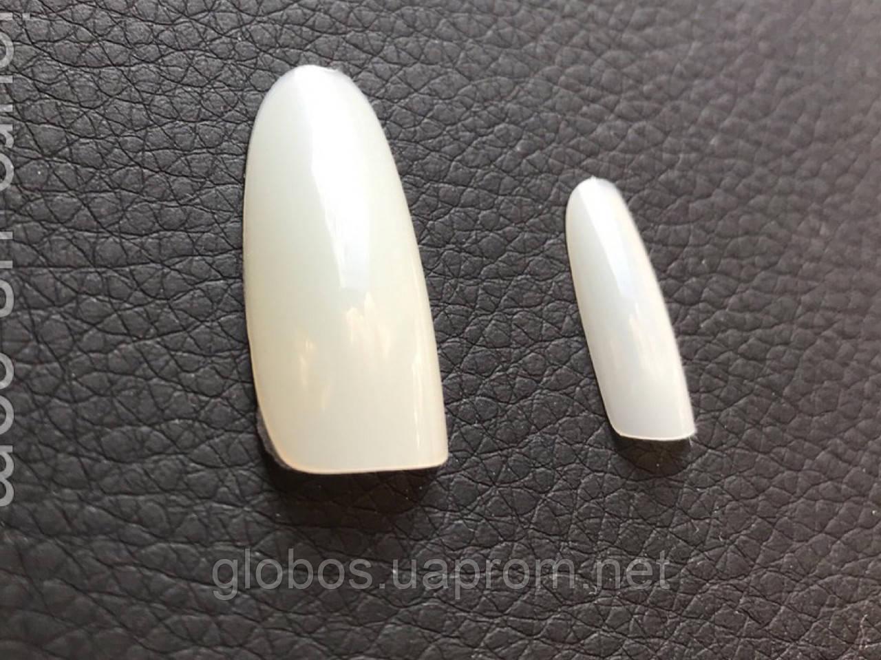 Накладные искусственные типсы GLOBOS R half-clear 1