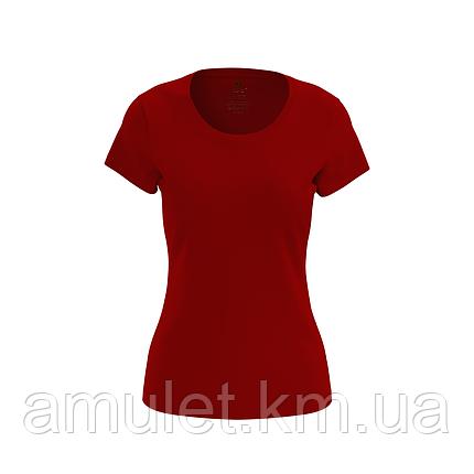 Футболка жіноча червона Premium, фото 2