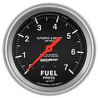 Датчик давления топлива Autometer 0-7 кг/см2  3412-J метрический 67мм