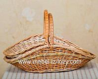 Плетеные корзины для дров из лозы  2шт.