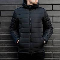 Мужская зимняя куртка с капюшоном Черный, фото 1