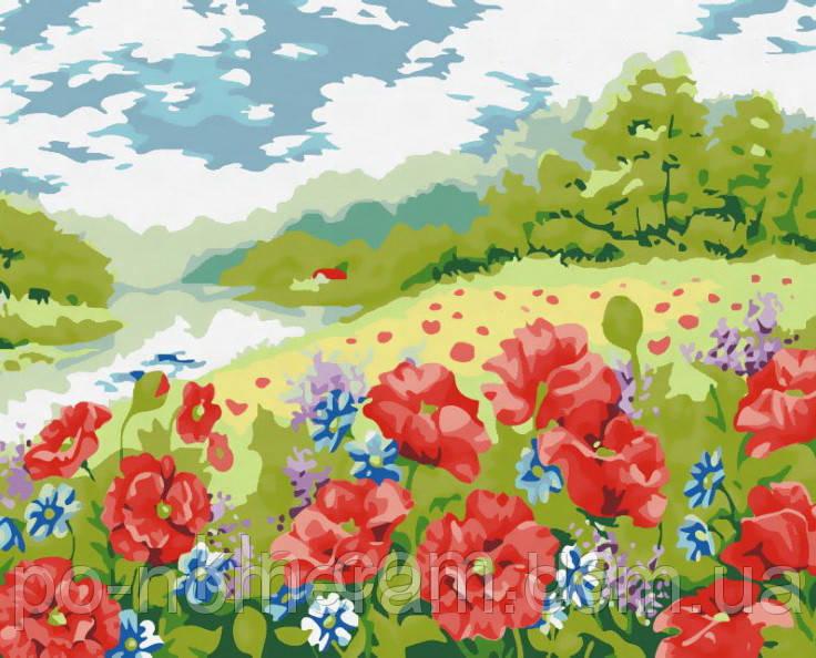 Рисование по номерам MG152 Поле маков 40 х 50 см 950 пейзаж