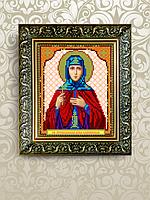Схема для вышивки бисером именная икона Анна