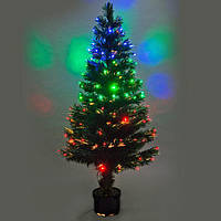 Новогодняя светодиодная, светящаяся, оптоволоконная, елочка 120 см