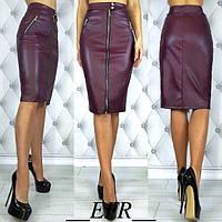 КФ9346 Женская юбка на молнии