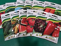 Семена пакетированных овощей в ассортименте