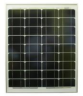 Солнечная панель 50Вт 12В монокристалл KM50