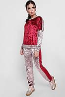 """Стильный женский велюровый спортивный костюм свитшот и брюки """"Sheinez"""" капучино-марсала"""