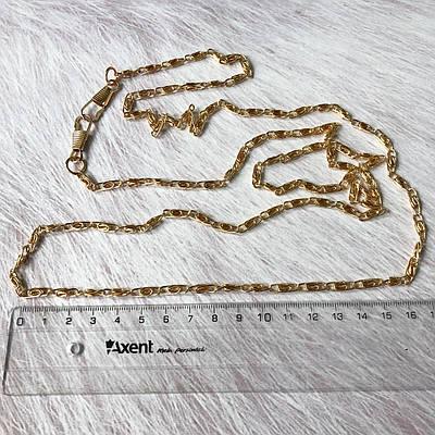Цепочка для сумки узловое плетение, с карабинами, золото